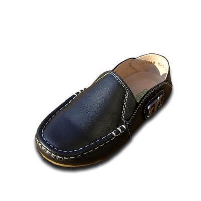 Nova primavera/outono crianças shoes slip-on sapatos de couro genuíno meninos meninas apartamentos casuais bebê crianças shoes couro 03