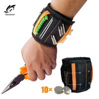 Geoeon Multi-function Magnetic Wristband Oxford Cloth Portable Tool Bag Electrician Wrist Tool for fixing various tools D35