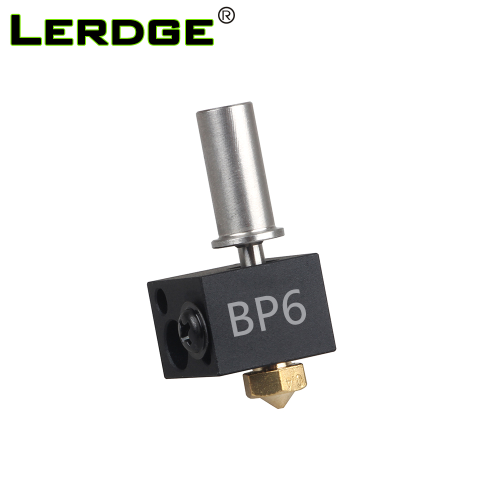 LERDGE 3D Printer BP6 Hotend J-head Parts 0.4mm 1.75mm Nozzle High Temp and Low Temp Replace V6 Accessories Extruder Kit 3 d printer accessories nozzle tube fittings peek j head accessories high temperature radiator pipe free shipping