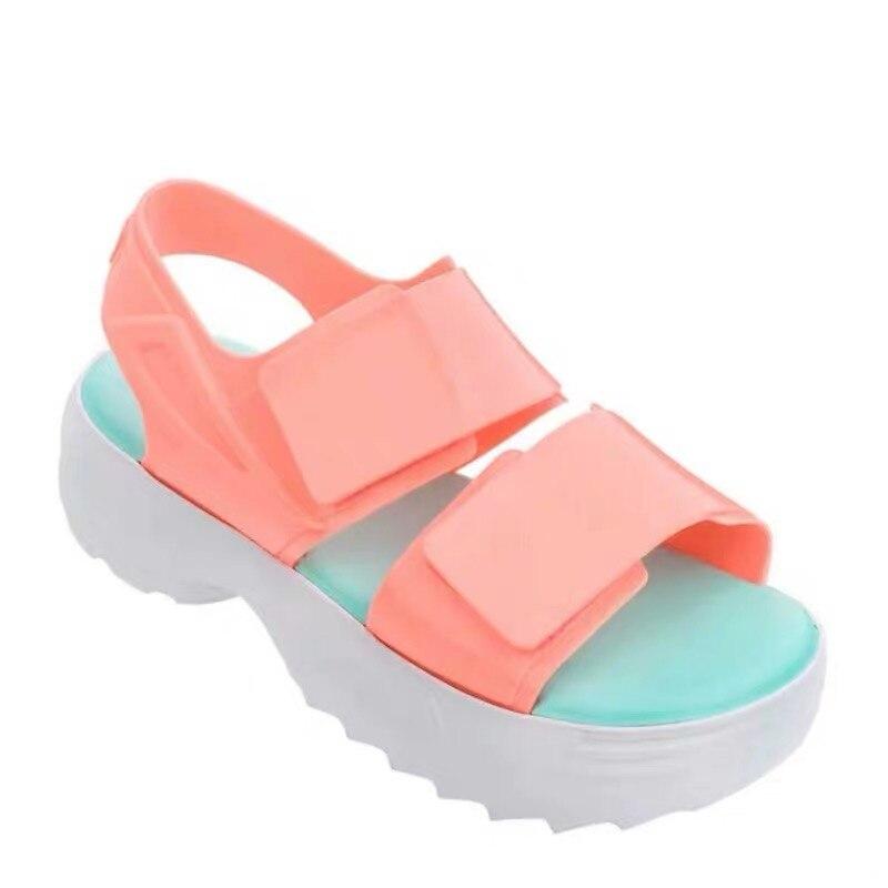 Melissa Original sandales femmes 2019 plate-forme sandales dames d'été Melissa chaussures compensées bout ouvert talon haut sandales pour femmes