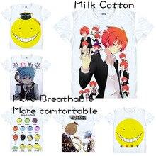 Assassination Classroom Teachers Koro-sensei Students Nagisa Shiota T Shirt Cosplay Costumes Men's Japanese Famous Anime T-shirt