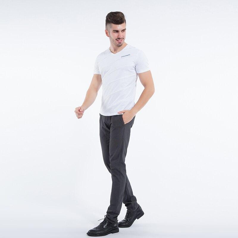 Liseaven Mens Tops & Tees V ყდის პერანგი - კაცის ტანსაცმელი - ფოტო 3