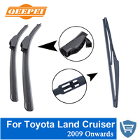 QEEPEI Front and Rear Wiper Blade no Arm For Toyota Land Cruiser 2009 Onwards High quality Natural Rubber windscreen 26''+20'' rear wiper blade rear wiper wiper blade arm -