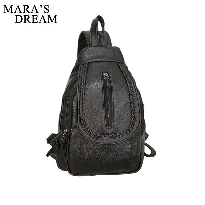 Mara' s Dream 2018 PU Women Leather Travel Backpacks School Bag Student Backpack Ladies Women Shoulder Bags Female Back Pack Bag dy0606 ladies bag 15inch women backpack suit for 14 15 notebook laptop bag student school bag travel mountaineering bag