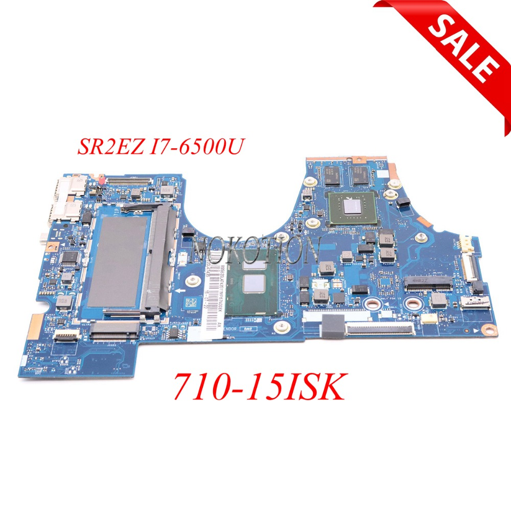 NOKOTION 5B20L47435 for Lenovo YOGA 710-15ISK Laptop Motherboard SR2EZ I7-6500U Gegorce <font><b>940MX</b></font> DDR4 BIUY2 Y3 LA-D471P Main board image
