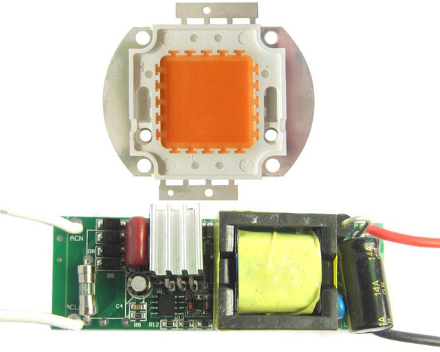 High Power 45mil 30W Full Spectrum SMD LED lamp Beads Chips Bulb +Non waterproof AC 85~265V LED Driver for Indoor Plant Grow