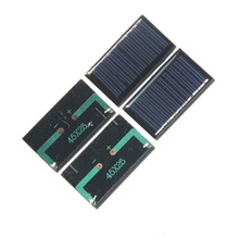 BUHESHUI Hot Sale 500PCS/Lot 0.125W 5V Solar Panel Polycrystalline Solar Cell DIY Solar Charger For 3.7V Battery 45*25*3MM