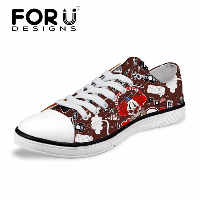 0b69e6bcd FORUDESIGNS Fashion Skull Design Men Casual Vulcanized Shoes Flats Men s  Classic Low Style Canvas Shoes for Teenage Boys Shoes