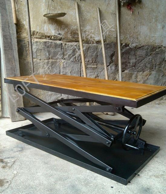 American Industrial Furniture Iron Coffee Table Rustic Furniture