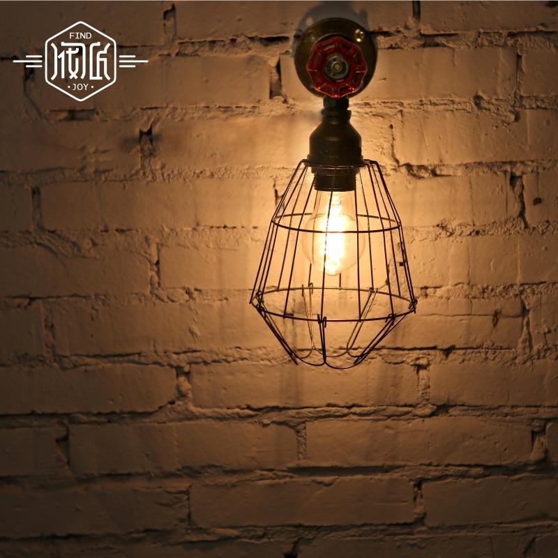 Fri frakt Amerikansk RusticLoft Style Vintage industriell vägglampa - Nattlampor