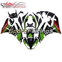 Цвета: зеленый, черный Полный обтекатели на мотоцикл для ZX6R 636 2009 2010 2011 2012 Kawasaki рамы кузова впрыскивание, АБС-пластик, Обтекатели чехлы