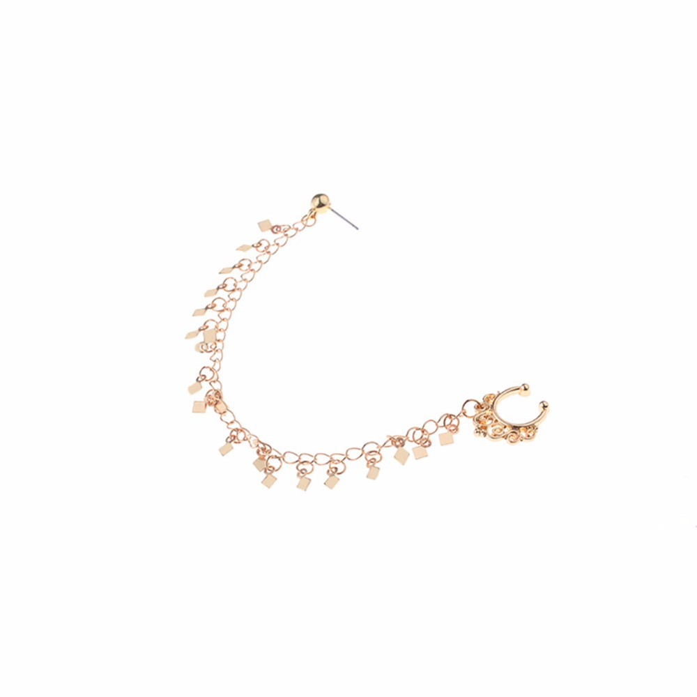 HTB1_TIVSpXXXXcLapXXq6xXFXXXS Nose to Ear Ring - No Pierce Clip on Fashion Jewelry