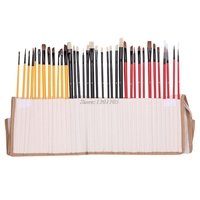 36Pcs Artist Paint Brushes Art Set For Acrylic Oil Watercolor 3 Style Portable JUN13