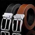 HONERCOO 100% zurriago Correa masculina pin hebilla cinturones de cuero genuino para los hombres a estrenar de lujo de la vendimia vaqueros cintos XF003 freeshipping