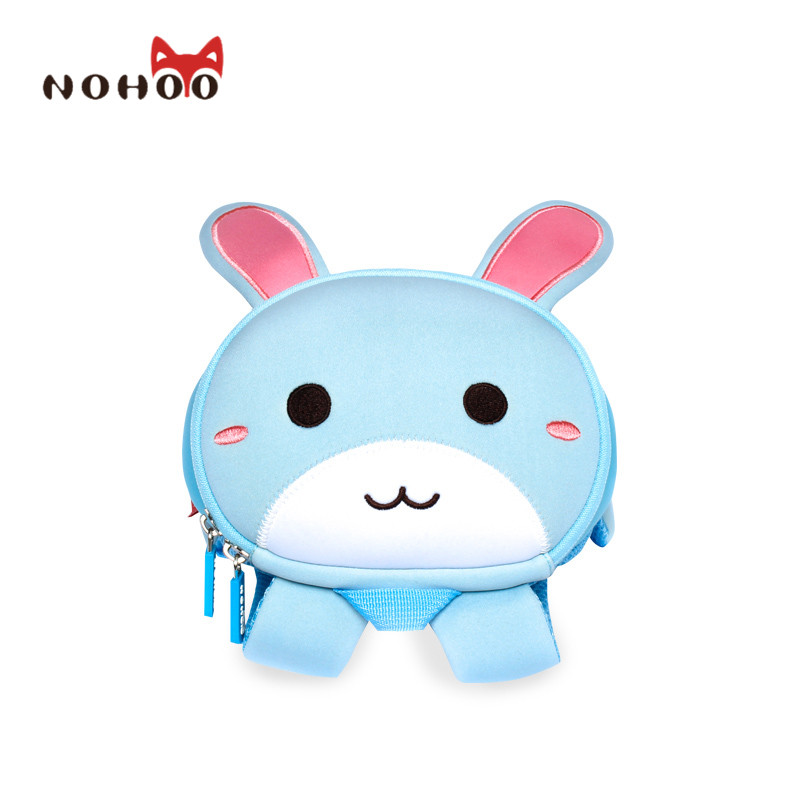 NOHOO Children Cartoon Rabbit School Bags Fashion Kids Baby <font><b>Backpack</b></font> Waterproof Schoolbags for Boys Girls Cut Toddler Baby Bag