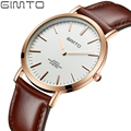 GIMTO 2016 Fashion Simple Watches Men Leather Watch Male Casual Ultra Thin Waterproof Quartz Wrist Watch Men Clock reloj hombre