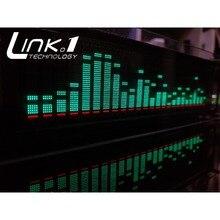 LINK1 VFD muzyki analizator widma Audio/Audio miernik VU/płyta wzmacniacza poziom/precyzyjny zegar/regulowany tryb AGC