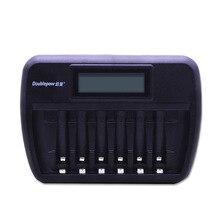 6 слотов Doublepow DP-K66 ЖК-дисплей быстрое зарядное устройство для 1,2 V AA/AAA Ni-MH, Ni-CD аккумуляторные батареи в полной высокой емкости