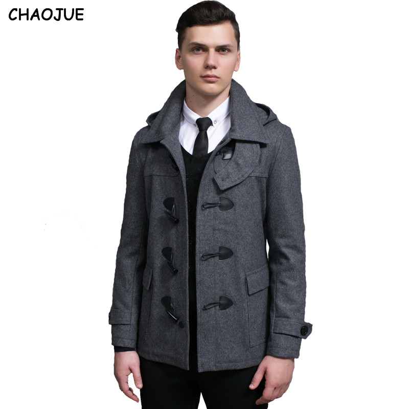 Popular Mens Grey Pea Coat-Buy Cheap Mens Grey Pea Coat lots from ...