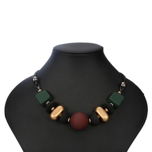 Match-Right Women Necklace Statement Necklaces & Pendants Wood Beads Necklace For Women Jewelry YJZ-178