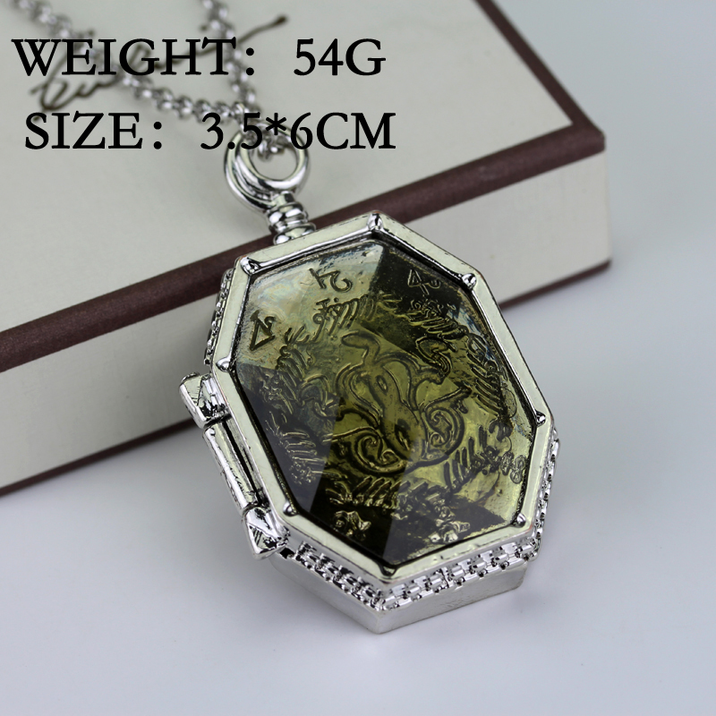 Hot sale fashion college treasures horcrux locket necklace slytherin img6031 mozeypictures Image collections