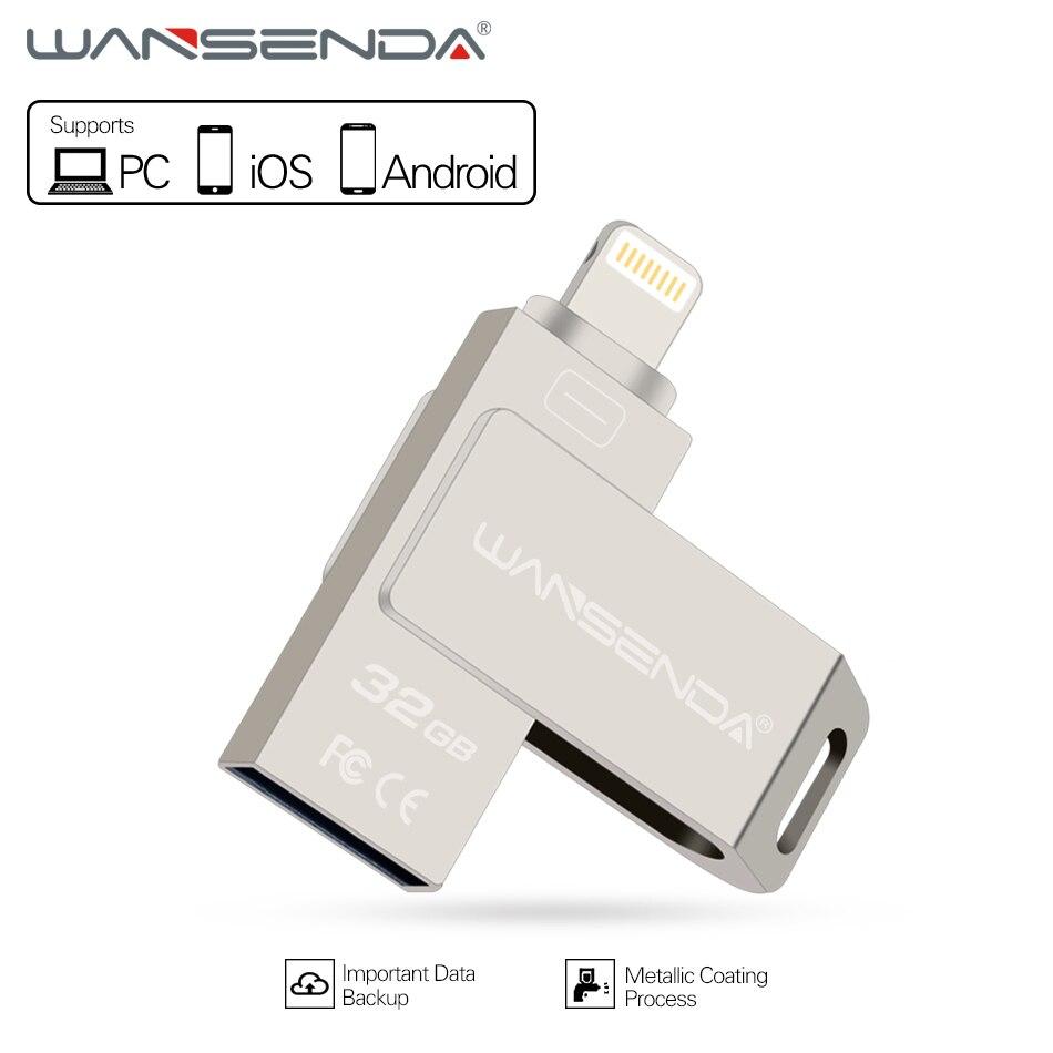 Wansenda 3 in 1 usb flash drive for PC/ iPhoneX/8/7/6/5