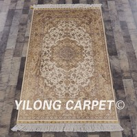 Yilong 3'x5' Handmade Persian Carpet Floral Turkish Antique Silk Rug (LH1936A3x5)