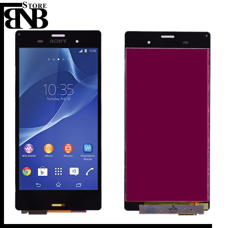 Original For <font><b>Sony</b></font> Xperia <font><b>Z3</b></font> <font><b>D6603</b></font> D6653 L55t LCD Display with Touch Screen Digitizer Assembly Black white free shipping image