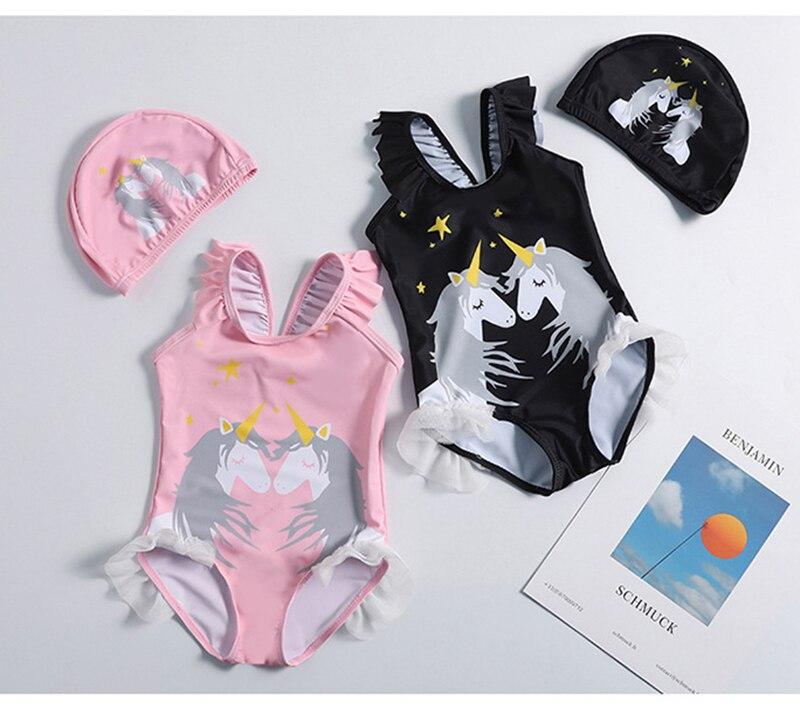 Schwimmen Neue 2019 Mädchen Bademode 1 ~ 10 Jahre Mädchen Badeanzug Ein Stück Einhorn Mädchen Bademode Mit Hut Kinder Bademode Bade Suit-st120 Kinder Bademode