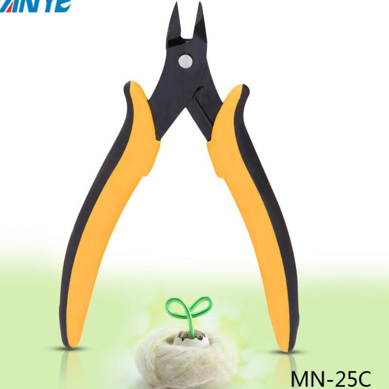 Купить с кэшбэком MN-25C wire cutter industrial maintenance Side cutting machine oblique cutting pliers, electronic tongs, diagonal pliers,