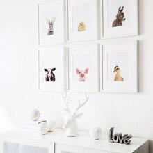 Ферма кролик свинья ребенок животных больше стены книги по искусству Декор Safari животные фотографии холст картины детская комната плакаты и принты