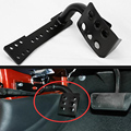 Metal Left Side Foot Rest Kick Dead Pedal Panel For 07-15 Jeep Wrangler JK Black