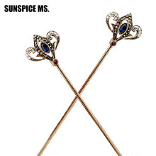 New style Brand Fashion Bridal Wedding Hairstick Hair Jewelry Hairpin Bohemian Crystal Hair pin Hair Sticks Turkish Handwear(China)