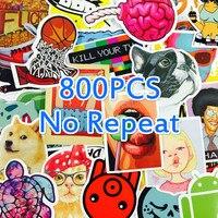 800 Pz NoRepeat Wholesa Sveglio Animale di Vendita Calda Home Decor Giocattolo Styling Televisione Laptop Decalcomania Moto Autoadesivo di Doodle di Skateboard