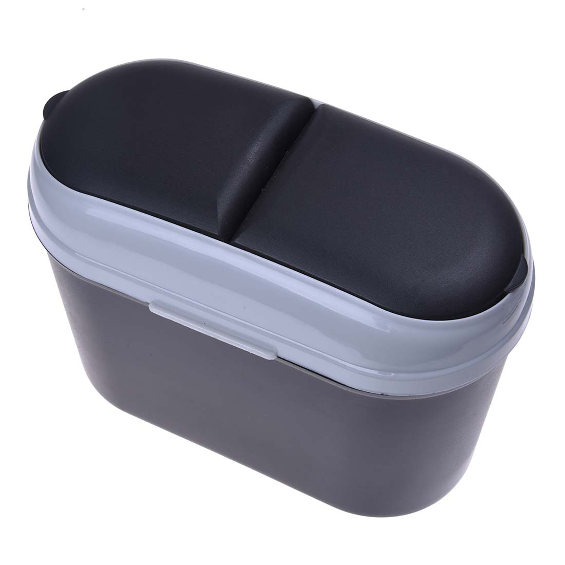 HOT GCZW-Mini Car Trash Rubbish Can Garbage Dust Case Holder Bin-black Grey
