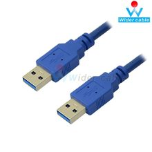 28AWG 1m Cor Azul Super Speed USB AM Cabo USB 3.0 AM a AM Cabo USB3.0 VER 006C