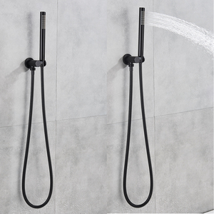 Image 3 - Thermostatic Shower Faucet Matte Black Ceiling Mounted Bathroom Rainfall Shower Column Dual Handle Concealed Shower Mixer Tap
