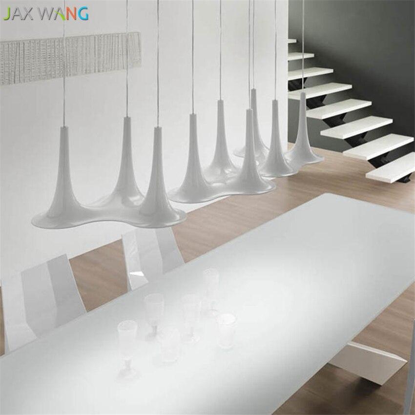 Modern Nordic Design Tulip Pendant Lights for Dining Room Bedroom Bedside Table Iron Desktop Bar Trumpet Hanging Lamps Fixtures in Pendant Lights from Lights Lighting