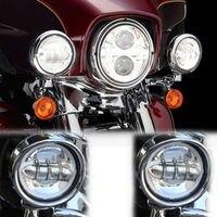 7 LED Headlight Lights Lamp LED Bulbs For Harley Motorcycle Pair LED HeadLamp Bulbs