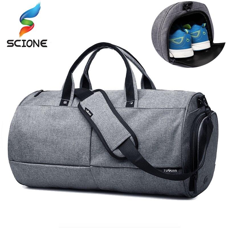 Hot Top Canvas Sport Gym Bag Training Bag Men Women Fitness Yoga Travel Multifunction Handbag Outdoor Sporting Shoulder Bag