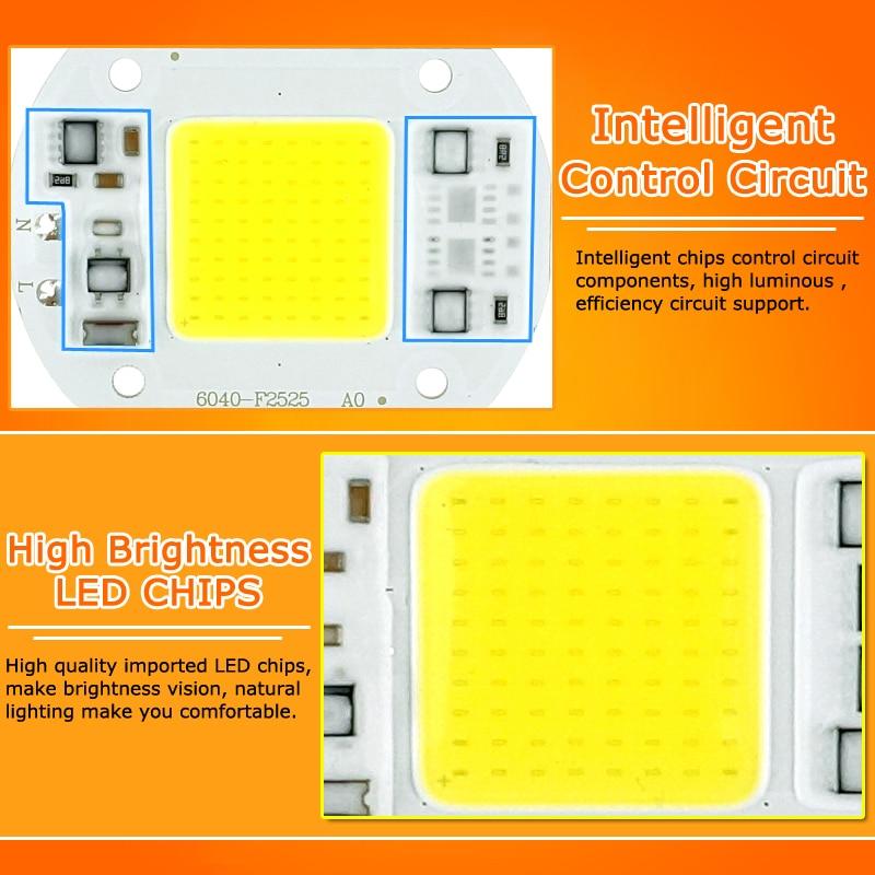 Image 3 - 50Pcs COB LED Chip 10W 15W 20W 30W 50W 220V 240V Input High Lumen LED Bulb Lamp For DIY Floodlight Spotlight-in LED Chips from Lights & Lighting