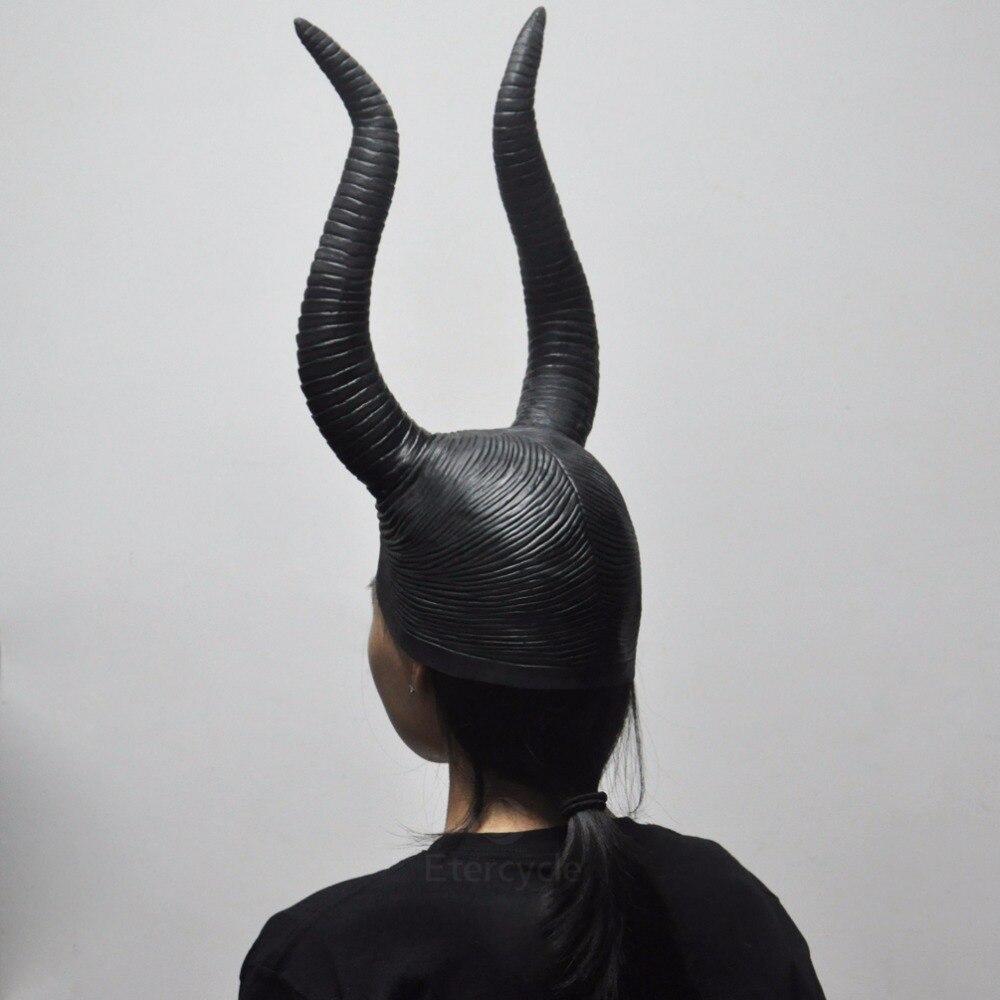 Maleficent Angelina Masks Cosplay de la Mujer Props Halloween Scary - Para fiestas y celebraciones - foto 3