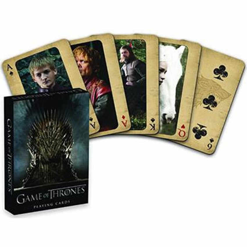 Movie Game of Thrones Cosplay Props Stark Jon Snow Daenerys Targaryen Dany Dragon Mother Playing Cards Board Game