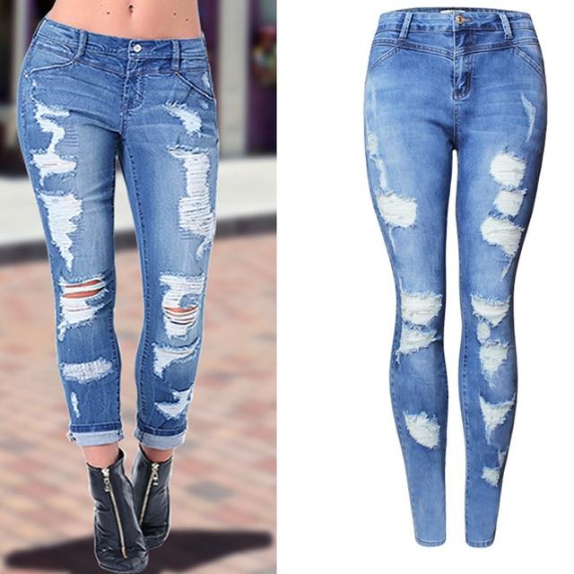 7deb4971a6d 2018 Girlfriend Women Jeans Fashion Brand Jeans Pants For Women Slim Fit  Hole Designer Women Sexy Jean Jeans New Streetwear S719