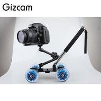 Gizcam 3 in 1 Desktop Video Photography Dolly Magic Arm Handheld Lever Monopod Rig Rail Track Slider DSLR Camera Accessories