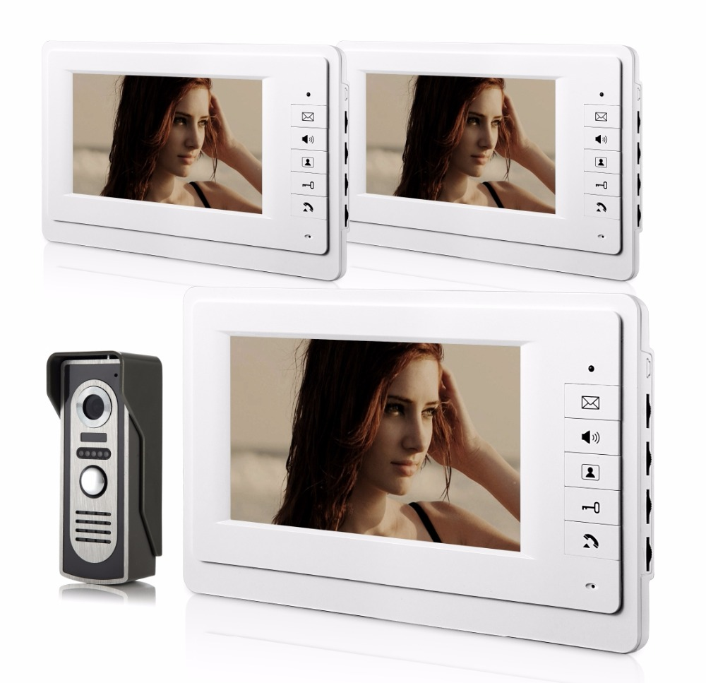 7 Inch 700TVL Zinc Alloy Camera Wired Intercom Video Door Phone XSL-70F-M 1V3