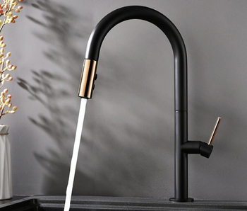 black or white brass pull out shower kitchen faucets tap single hand hot and cold wash kitchen  mixer water tap BL687
