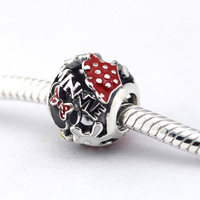 Beads Fits Pandora bracelet Silver Beads Portrait Minnie Original 925 sterling silver charms DIY retail in May good gift