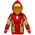 Осенние куртки для мальчиков, пальто с капюшоном, Детская верхняя одежда с Железным человеком-пауком, raython, Hulk, Детская куртка, костюм Челове...