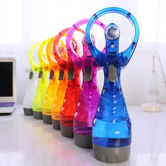 Mini Portable Handhold Water Mist Fan 2In1 Functions Powerful Fan Water Cooling Spray Fan Humidification Fan for Outdoor Travel